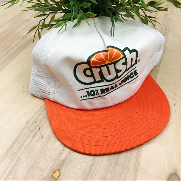 Vintage orange crush soda SnapBack trucker hat. M 5a542a7b36b9ded1c00332ce b42da909b292